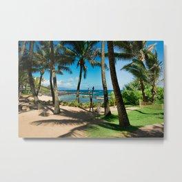 Kuau Beach Paia Maui North Shore Hawaii Metal Print