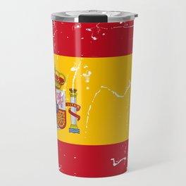 Spain flag with grunge effect Travel Mug