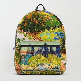 Vincent Van Gogh Flower Garden Landscape Backpack