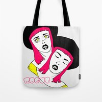 rogue Tote Bags featuring ROGUE by Sarah Marie