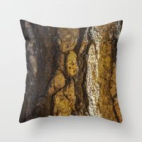 in the flesh Throw Pillows featuring Flesh  by Liliana Scarlet Sedano
