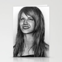 hayley williams Stationery Cards featuring Hayley Williams by ''Befne''