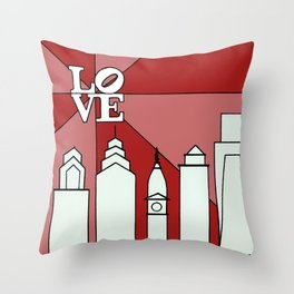 LOVEred Throw Pillow