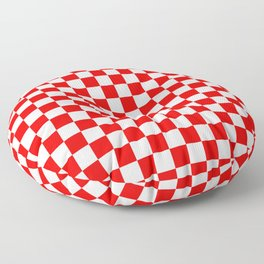 Jumbo Australian Racing Flag Red and White Checked Checkerboard Pattern Floor Pillow