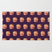 low poly Area & Throw Rugs featuring Mc Whopper Low Poly by Happy Motion