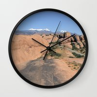 utah Wall Clocks featuring Moab Utah by BACK to THE ROOTS