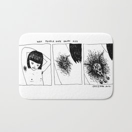 WHY PEOPLE HATE HAIRY PITS? Bath Mat