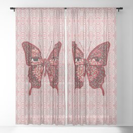 Butterfly Variation 04 Sheer Curtain