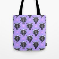 baphomet Tote Bags featuring Baphomet V2 by Savannah Horrocks