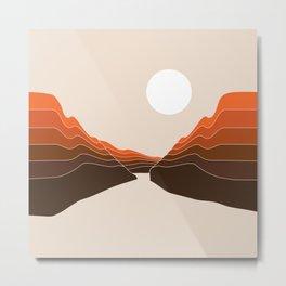 Desert Dusk Ravine Metal Print