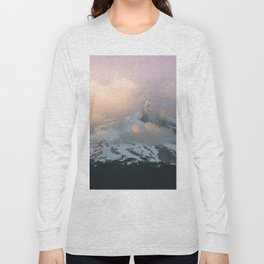 Pink Fog Mountain Morning Long Sleeve T-shirt