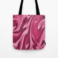 burgundy Tote Bags featuring Burgundy by Paula J James