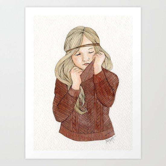 Sweater Season Art Print