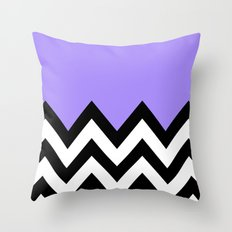 PURPLE COLORBLOCK CHEVRON Throw Pillow