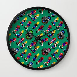 Zombies Ate My Neighbors | green || retrogaming vintage Wall Clock