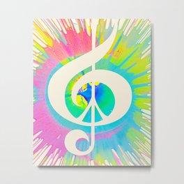 Tie Dye Music & Peace Metal Print