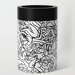 Lots of Bodies Doodle in Black and White Can Cooler