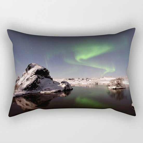 Iceland in Winter Rectangular Pillow