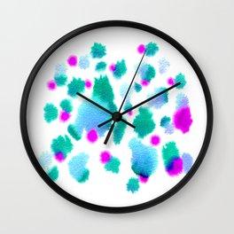 Do you remeber? Abstract watercolor artwork Wall Clock