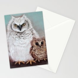 Wol and Weeps - From Owls in the Family - By Farley Mowat Stationery Cards