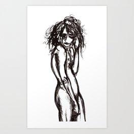 Curlz Art Print