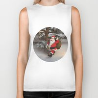 santa Biker Tanks featuring Santa by Design Windmill