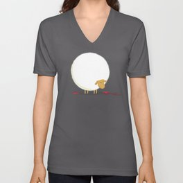 Fluffy Sheep Unisex V-Neck