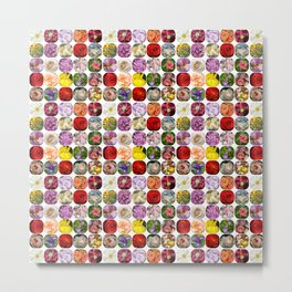 A Collage Of Bright Flowers Metal Print