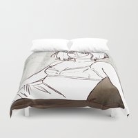 selena Duvet Covers featuring The Afternoon Light by Judit Mallol