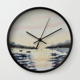 Boats & Sky Wall Clock
