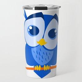 Sweet Little Blue Owl Travel Mug