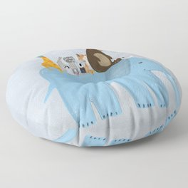 the big blue elephant Floor Pillow