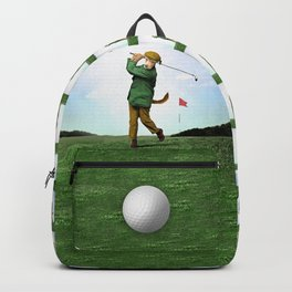 Sir Terrance Terrier Golfing Backpack