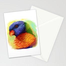 Rainbow lorikeet realistic painting Stationery Cards