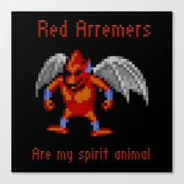 Red Arremers Are My Spirit Animal Canvas Print