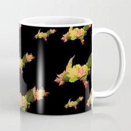 Upper Peninsula Leaves Outline Pattern Coffee Mug