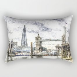The river Thames London Rectangular Pillow