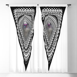 """""""Beez Lee Art : Foggy Triangle Point of View"""" Blackout Curtain"""