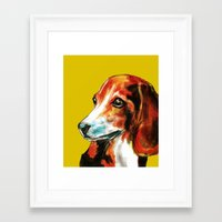 beagle Framed Art Prints featuring Beagle by James Peart