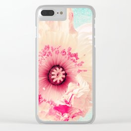 Pastel poppy Clear iPhone Case