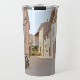 Sunny Alley in Mallorca Spain Travel Mug