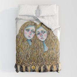 Goblin Market - illustration of poem by Christina Rossetti Duvet Cover