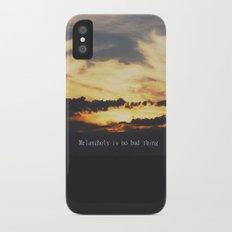 Melancholy  iPhone X Slim Case