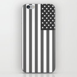 American flag in Gray scale iPhone Skin