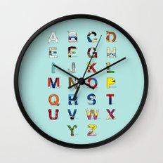 VGC alphabet Wall Clock
