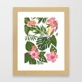 Jungle Floral Print Framed Art Print
