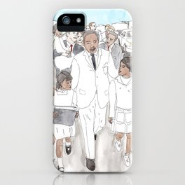 Martin Luther King Walks iPhone Case