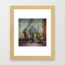 The Three Distinguished Members of the Committee to Handle the Squirrel Problem Framed Art Print