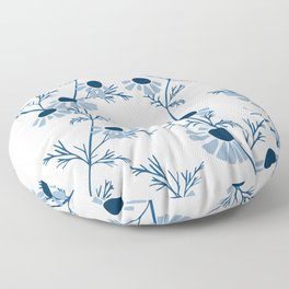 Chamomile Collection - Tea Time Classic Blue Floor Pillow