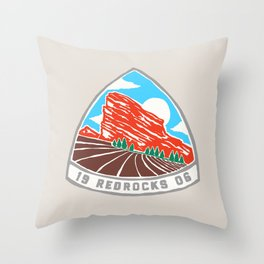 Red Rocks 1906 Throw Pillow